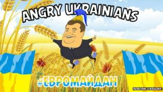 "Screenshot from the ""Angry Ukrainians"" game"