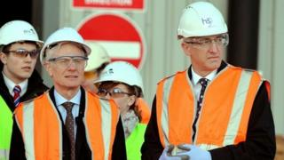 HS2 chair Sir David Higgins and infrastructure minister Lord Deighton