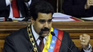 Maduro addressing the National Assembly