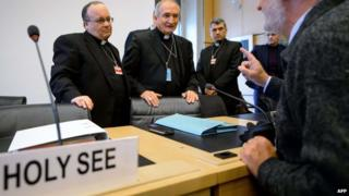 Vatican envoys before the Geneva hearing - 16 January