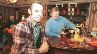 Roger Lloyd Pack and Kenneth MacDonald in Only Fools and Horses