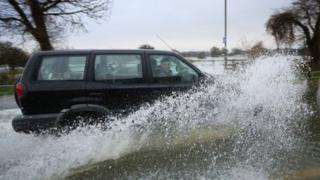flooding in Chertsey, Surrey