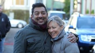 Masood Ahmed and Carol Jackson in EastEnders