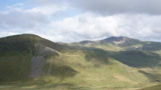 View from train up Snowdon