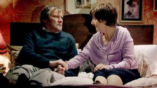 Roy and Hayley Cropper in Coronation Street
