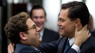 Jonah Hill (l) and Leonardo DiCaprio in The Wolf of Wall Street