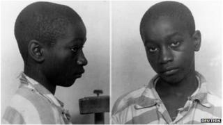 George Stinney Jr appears in an undated police booking photo provided by the South Carolina Department of Archives and History.