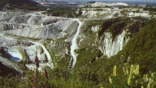 China clay pit