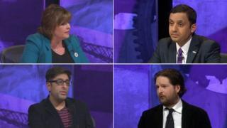 Fiona Hyslop, Anas Sarwar, Sanjeev Kohli and Alex Massie