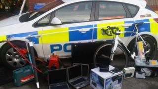 Stolen goods recovered by South Yorkshire Police