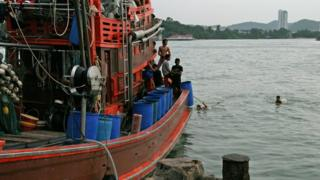 A Thai fishing boat