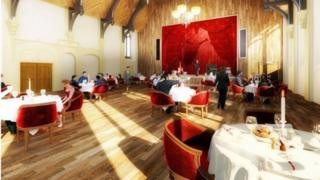 Artist impression of the new look Unity Hall
