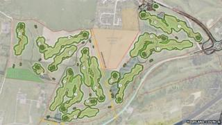 Plan of layout for relocated Torvean Golf Course