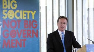 David Cameron at the launch of the Big Society scheme