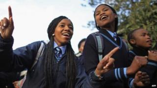 Schoolgirls in South Africa