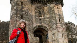 Pam Barker at Lancaster Castle