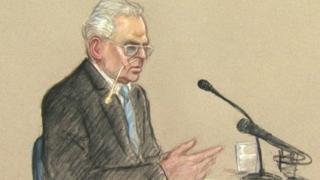 Court artist sketch of Ian Brady. By Julia Quenzler