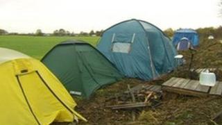 Barton Moss anti-fracking camp on land in Salford