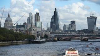 London skyline, October 2013