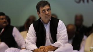 India's ruling Congress party Vice President Rahul Gandhi attends the All India Congress Committee (AICC) meet to prepare for the upcoming polls in New Delhi, India, Friday, Jan. 17, 2014.