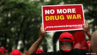 File photo of protest against marijuana arrests, New York, 2012