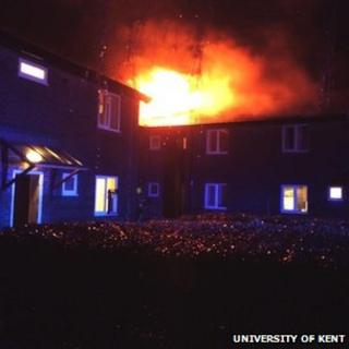Fire at University of Kent