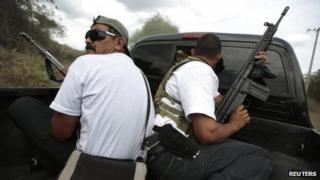 Mexican vigilantes in Michoacan