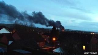 Fire at recycling centre in Devizes