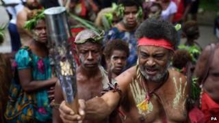 Queen's Baton Relay makes its way through Papua New Guinea