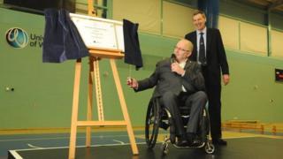 Sir Phillip Craven and Professor David Green, vice chancellor
