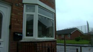 The window of a house in Workman Avenue was smashed