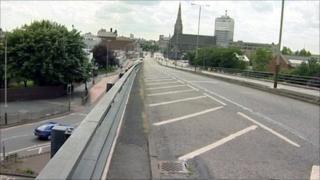 Belgrave flyover in Leicester