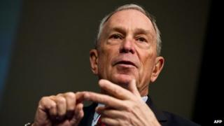 Former New York City mayor Michael Bloomberg speaks at a conference in Washington in January 2013