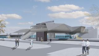 Artist's impression of Port Talbot parkway station