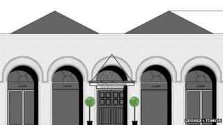Architect's impression of new Newtown market hall