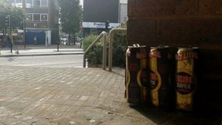 Beer cans in Ipswich