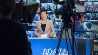 Dozhd TV broadcast - file pic