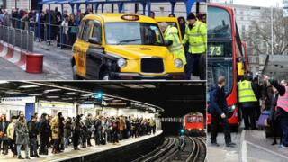 Tube strike queues