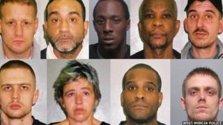 Drug gang mugshots