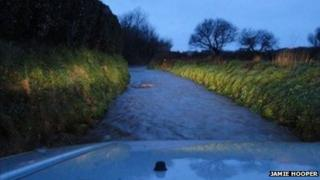 Flooding in Guernsey, 6 February