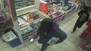 CCTV of robbery