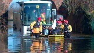 Children saved from trapped bus