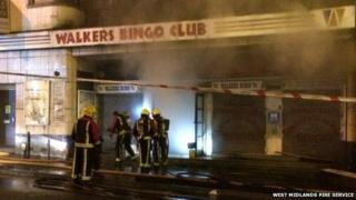 Fire at Bingo Hall