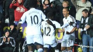 Swansea celebrate