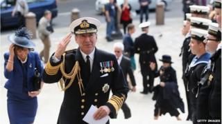 First Sea Lord Admiral Sir George Zambellas.