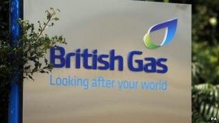 British Gas sign