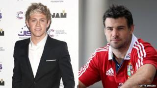 Niall Horan and Mike Phillips