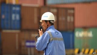Shanghai port worker