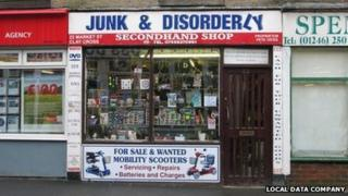 Shop named Junk And Disorderly