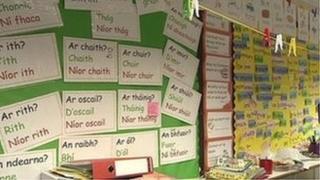 Irish school classroom